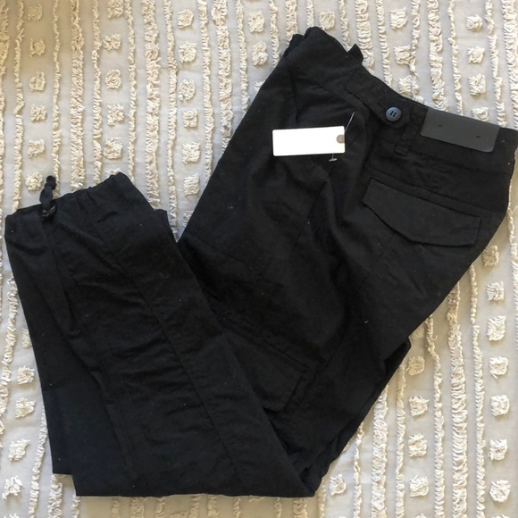Anthropologie Pants - Anthro black cargo pants